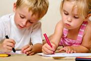 preschool children coloring