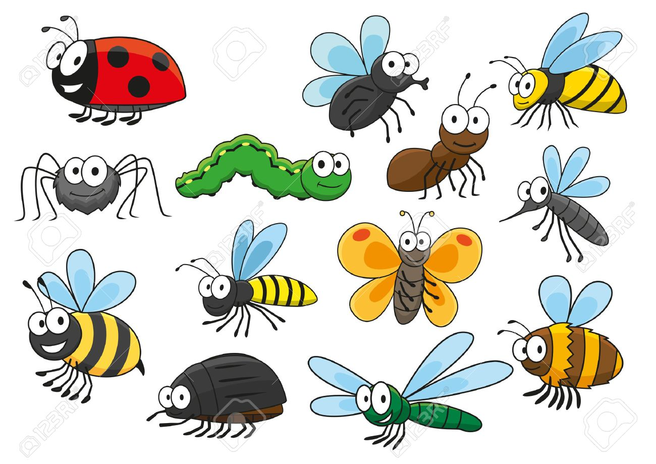 54666078 Friendly Smiling Cartoon Bee And Bug Butterfly And Caterpillar Fly And Ladybug Spider And Mosquito W Spes Preschool Pk2 Tk Prosper Tx
